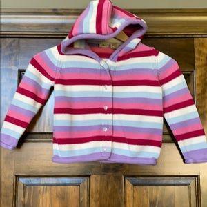 LL Bean girls 4T knit cardigan